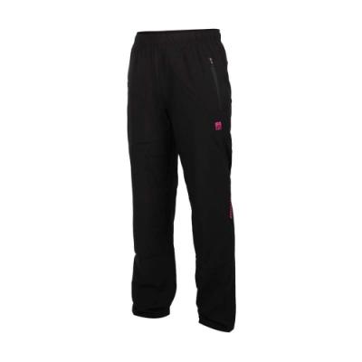 FIRESTAR 女彈性平織平口長褲-慢跑 路跑 運動 PL080-46 黑桃紅