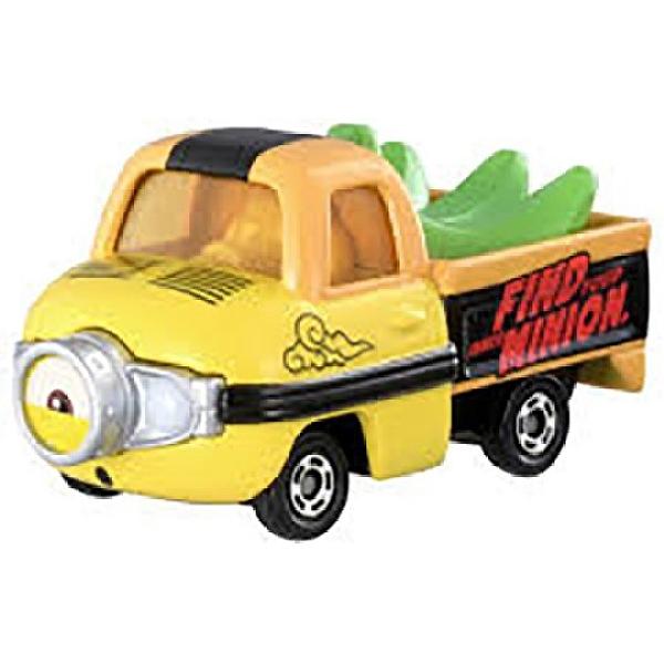 小禮堂 TOMICA多美小汽車 小小兵Stuart 香蕉貨車 玩具車 模型車 (綠黃) 4904810-16077