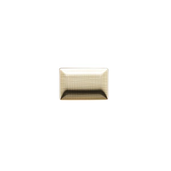 德國 Rosenthal Mesh長方碟10X7cm-奶油白