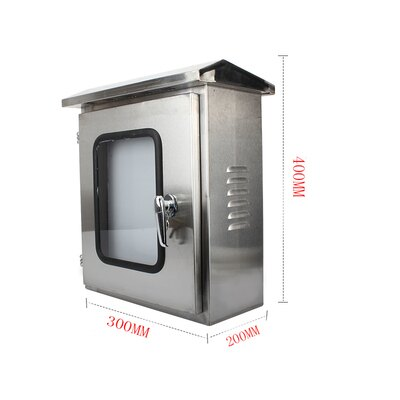 電箱 戶外不銹鋼雙層門配電箱室外防雨水監控箱內外門儀錶箱布線控製箱