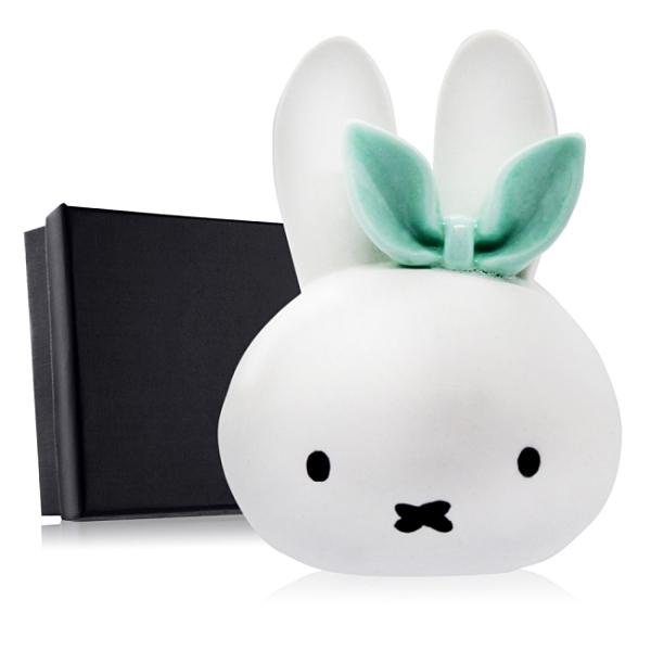 O'Pretty 歐沛媞 室內/車用 香氛擴香石擺飾-綠色蝴蝶結兔子