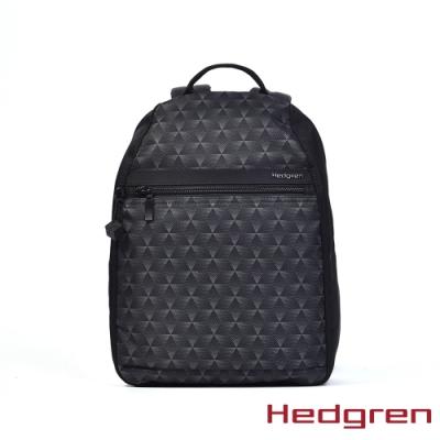 【Hedgren】INNER CITY旅行防盜 後背包-三角漸黑(L)