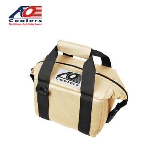 【AO Coolers】酷冷軟式輕量保冷托特包-6罐型經典帆布-沙色