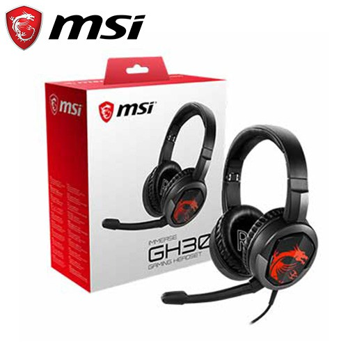 MSI 微星 Immerse GH30 V2 耳罩式電競耳機麥克風【92折▼省109】