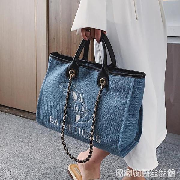 春夏新款包包流行百搭大包包大容量簡約時尚手提包洋氣單肩包 聖誕節全館免運