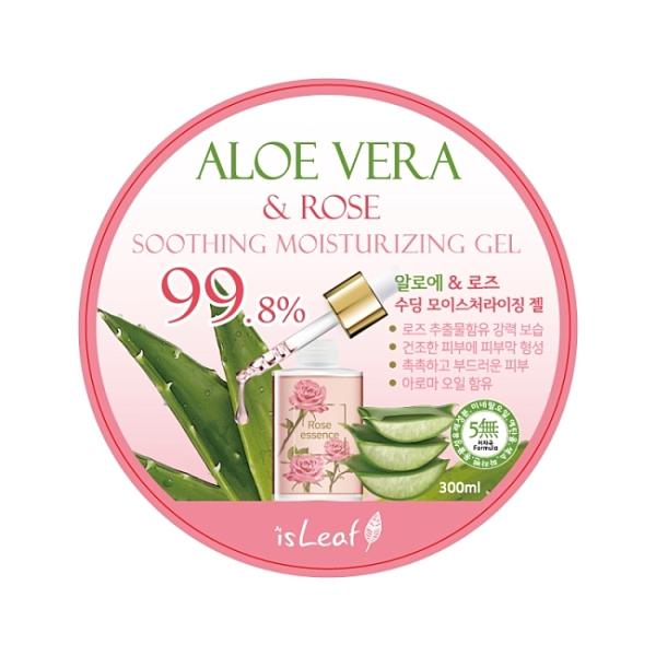 韓國isLeaf蘆薈保濕凝凍300ml-玫瑰