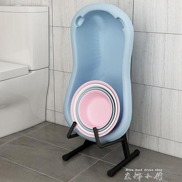 浴室廁所盆子臉盆收納架可折疊臉盆架落地式家用衛生間放盆置物架