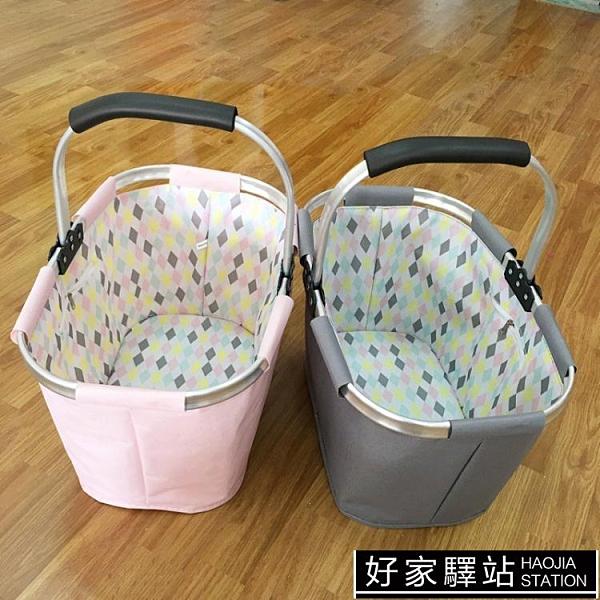 出口歐美日系時尚家居 購物籃收納籃便攜可折疊購物籃野餐籃