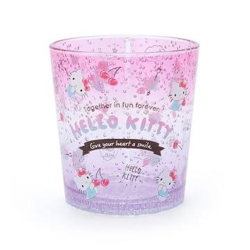 Hello Kitty 塑膠杯 兒童水杯 透明杯 水杯 無把 氣泡紋路 300ml (2020新生活)