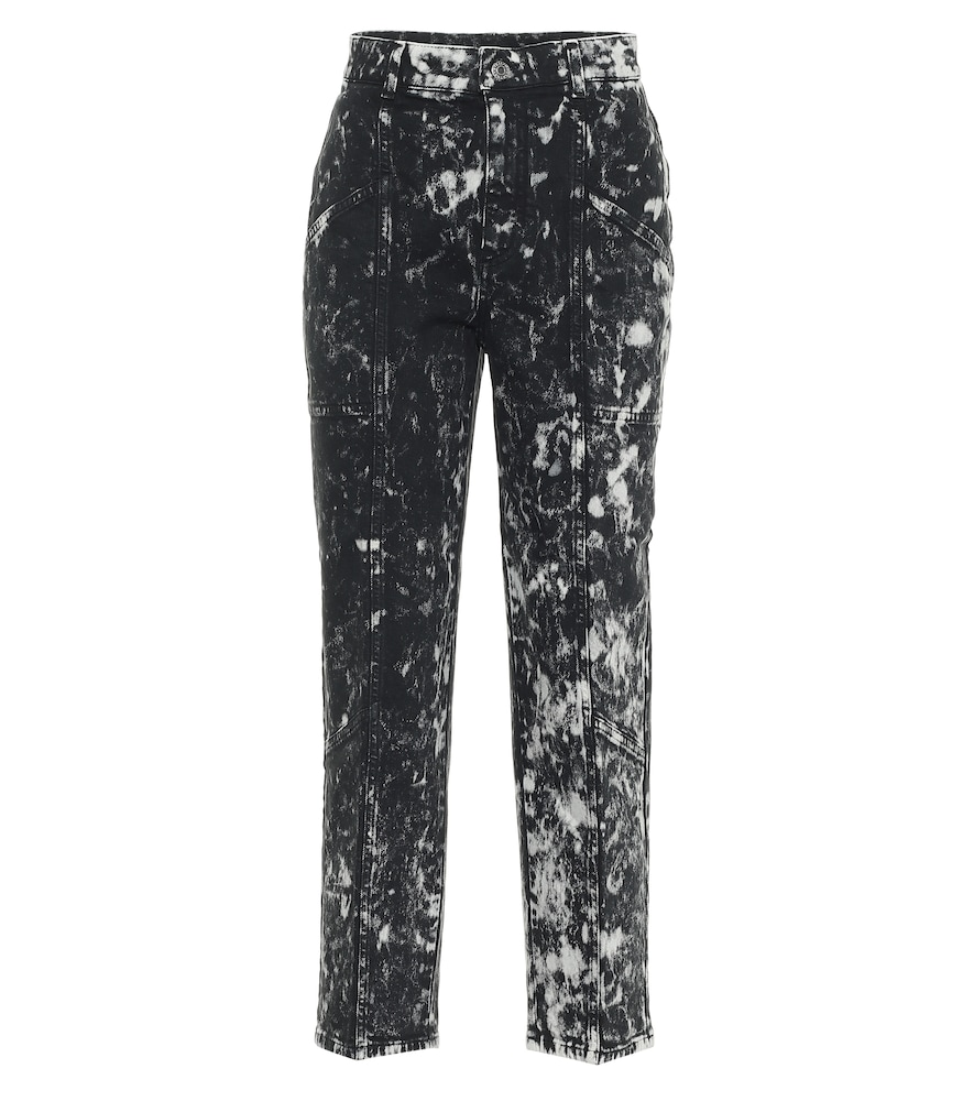 Galaxy printed high-rise cropped jeans