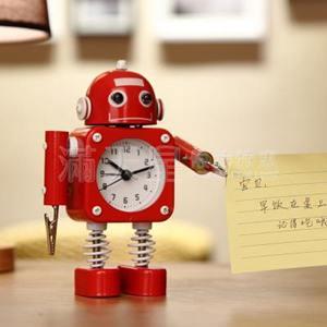 學生用鬧鐘兒童卡通專用鬧鈴床頭可愛創意個性機器人小男孩時鐘表