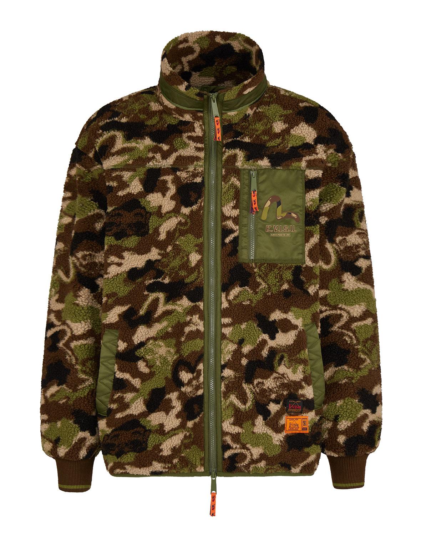 Allover Godhead Camouflage Sherpa Jacket