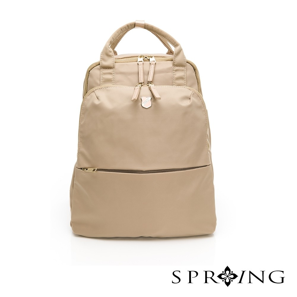 spring-未來質感系列2way尼龍後背包-優雅米(0-55008-11)
