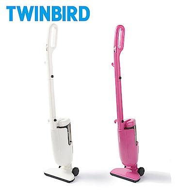 日本TWINBIRD-強力手持直立兩用吸塵器(白/粉紅)ASC-80TW