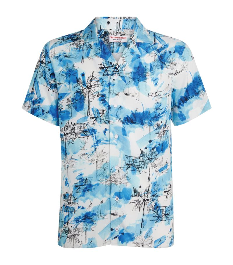 Orlebar Brown Tropical Print Shirt
