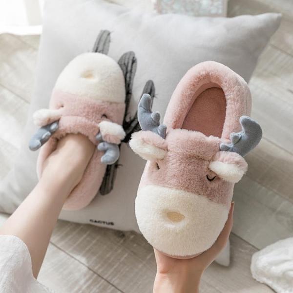 冬天棉拖鞋女可愛包跟毛絨家居情侶厚底冬季月子鞋室內保暖毛拖鞋 後街五號