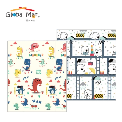 【Global mat】國民地墊 雙面厚1.5CM 捲式 XPE 遊戲地墊 - 多款任選