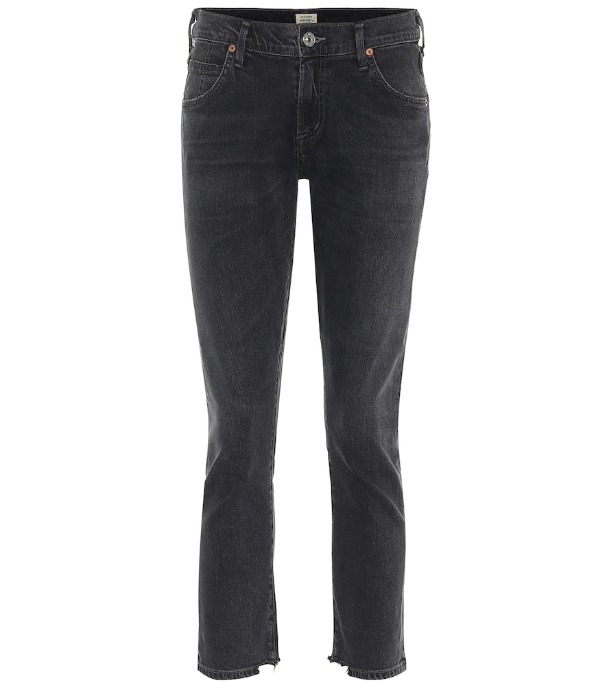 Elsa mid-rise slim cropped jeans