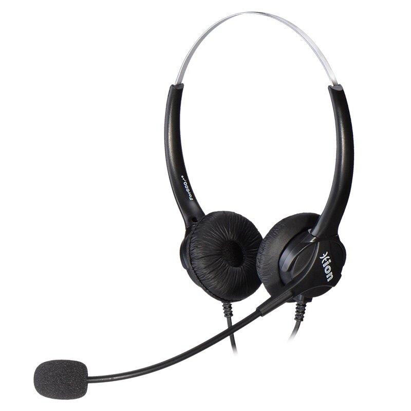 客服耳麥 Hion/北恩 FOR600D 呼叫中心話務員耳麥電腦電話座機客服雙耳耳機 愛尚優品
