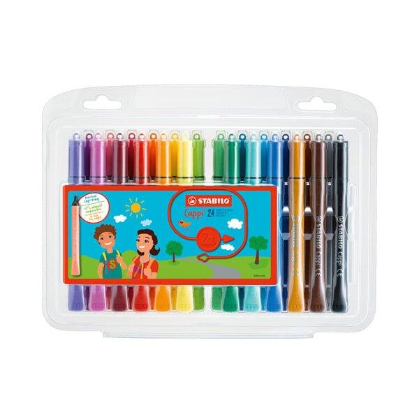 618購物節STABILO 德國 思筆樂 Cappi圈圈樂彩色筆 24色組 / 盒 168/24-1