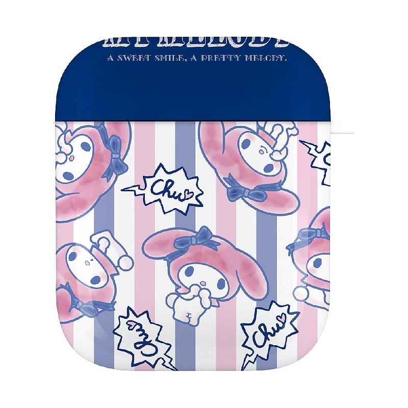 【Hong Man】三麗鷗系列 AirPods防塵耐磨保護套 美樂蒂 簡約條紋