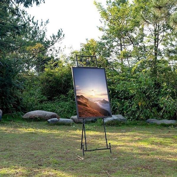 畫架鐵藝迎賓架 廣告架竹管油畫架水牌架 歐式客廳照片架落地婚慶畫架-