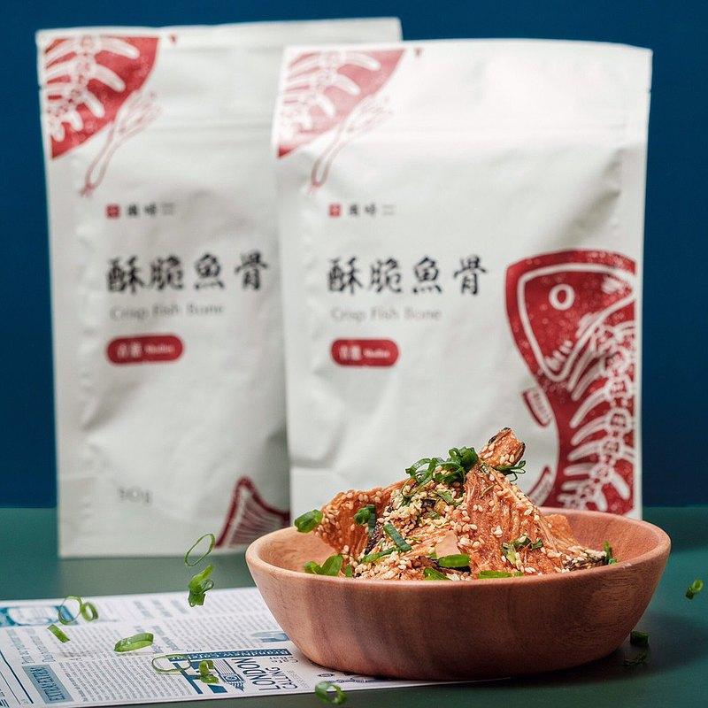 【 鱈魚食材 】青蔥 酥脆魚骨 2包