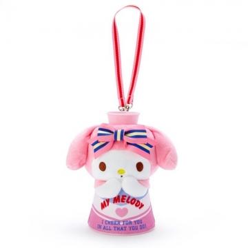 〔小禮堂〕美樂蒂 絨毛玩偶娃娃傳聲筒《粉白》大聲公.東京奧運