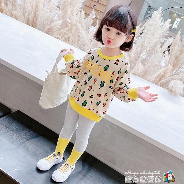 兒童運動套裝3春秋女童裝網紅洋氣4寶寶時髦小童新款1歲衣服2 聖誕節全館免運