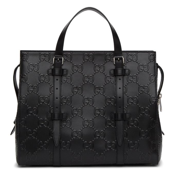 Gucci 黑色 Gucci Signature Weekender 行李包