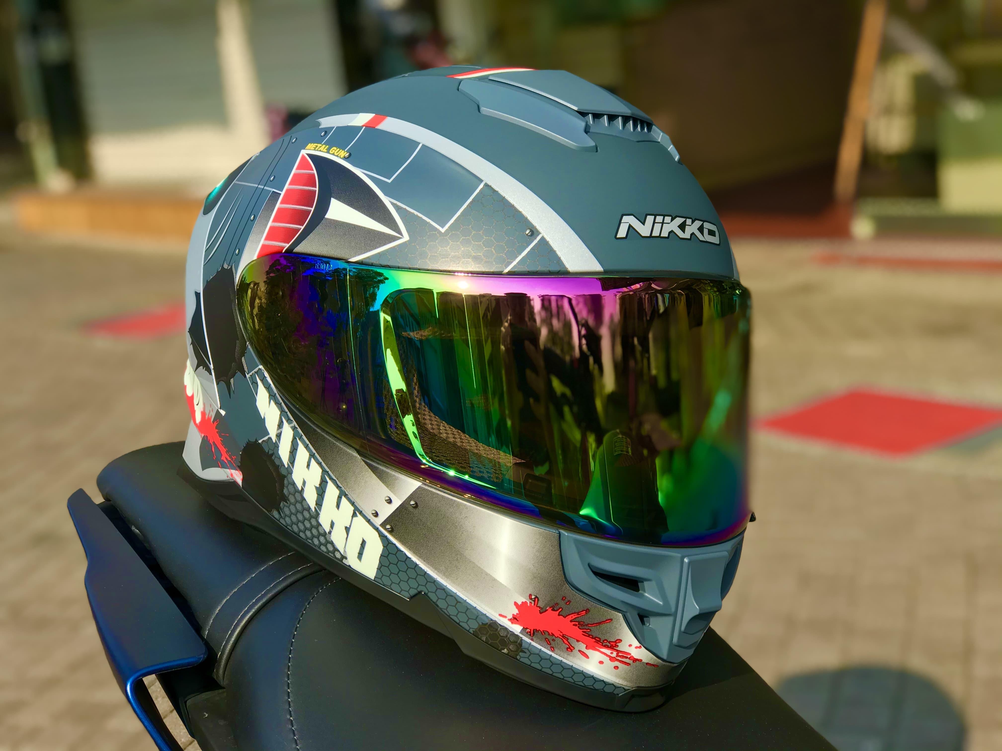 NP HELMET現貨可快速出貨⚡NIKKO N806電鍍片 電五彩 電鍍藍 電鍍鏡片 鏡片
