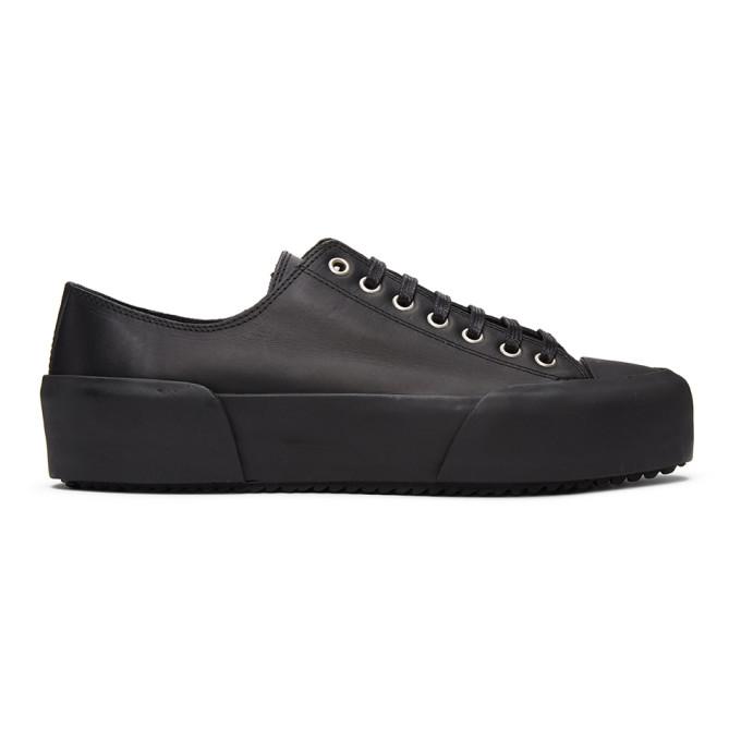 Jil Sander 黑色抛光运动鞋