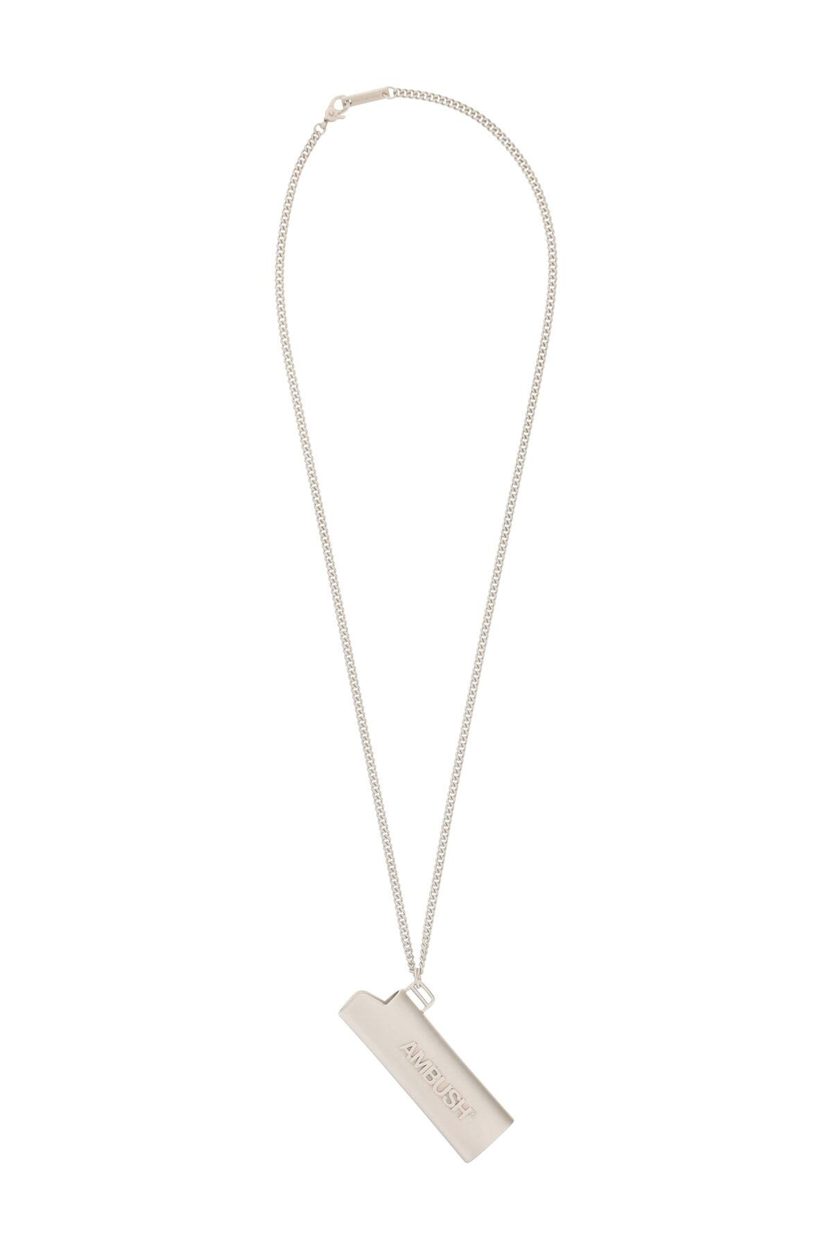 AMBUSH LIGHTER CASE UNISEX NECKLACE OS Silver