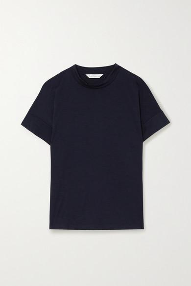 King & Tuckfield - 美利奴羊毛 T 恤 - 海军蓝 - large
