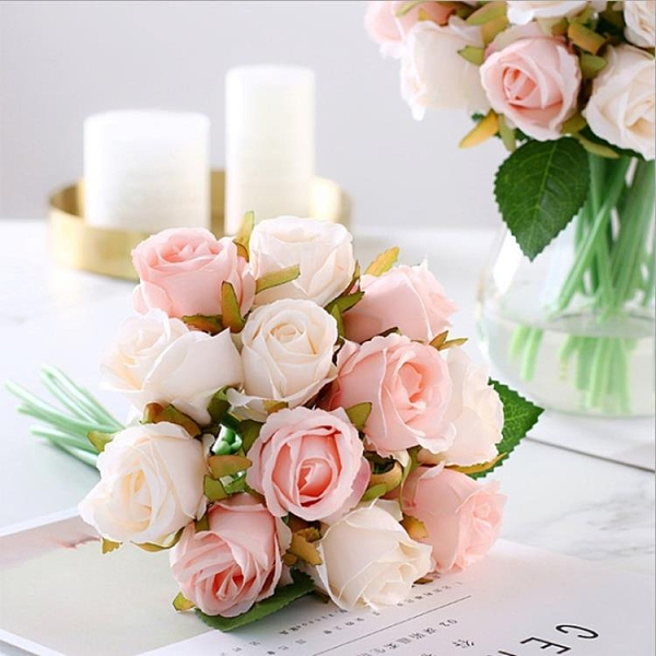 香皂花 韓式玫瑰手捧花 新娘婚紗攝影拍攝道具裝飾花 仿真裝飾假花 ciyo黛雅