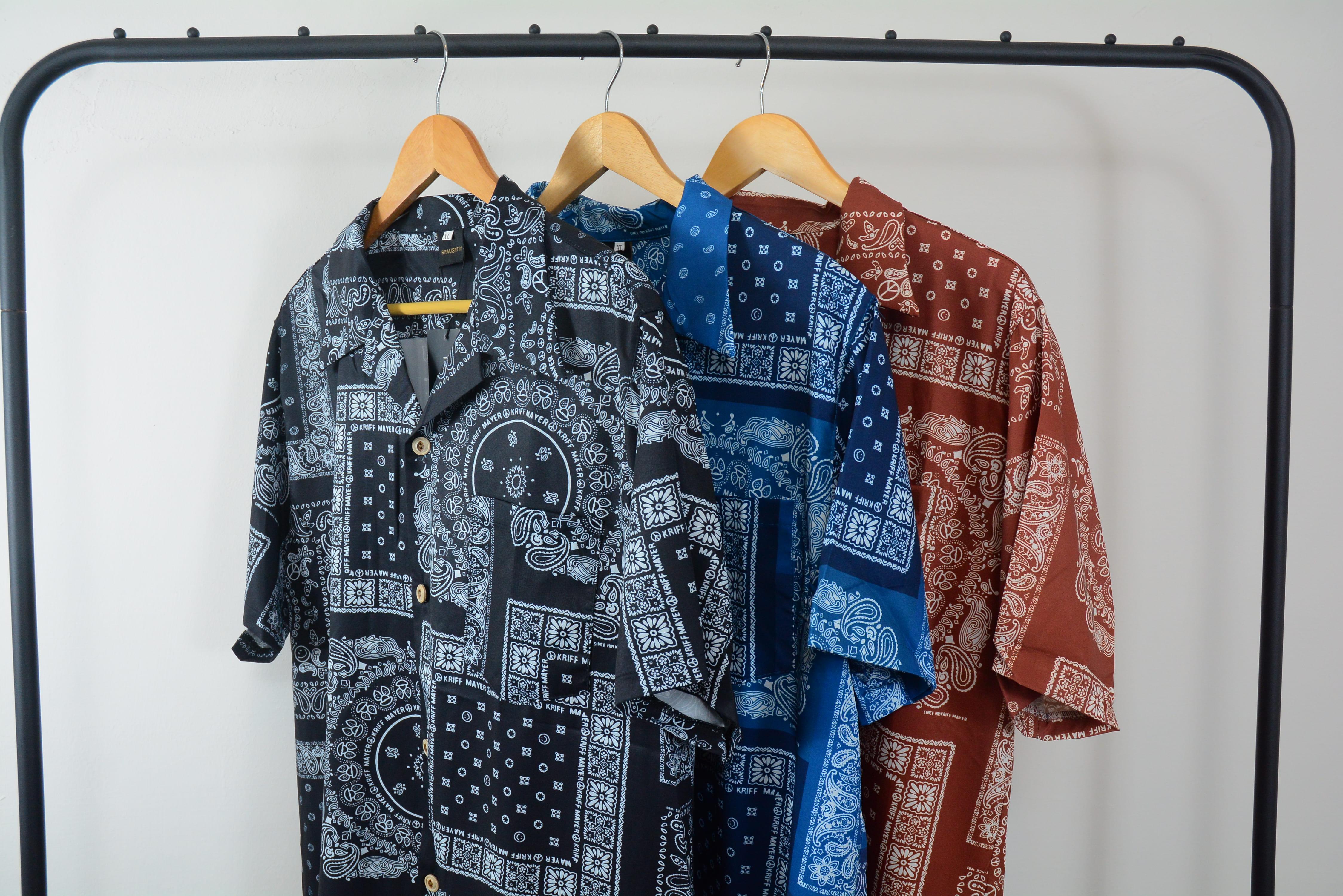 【滿千折百】古巴領 開襟 變形蟲襯衫 短袖襯衫 夏天風格