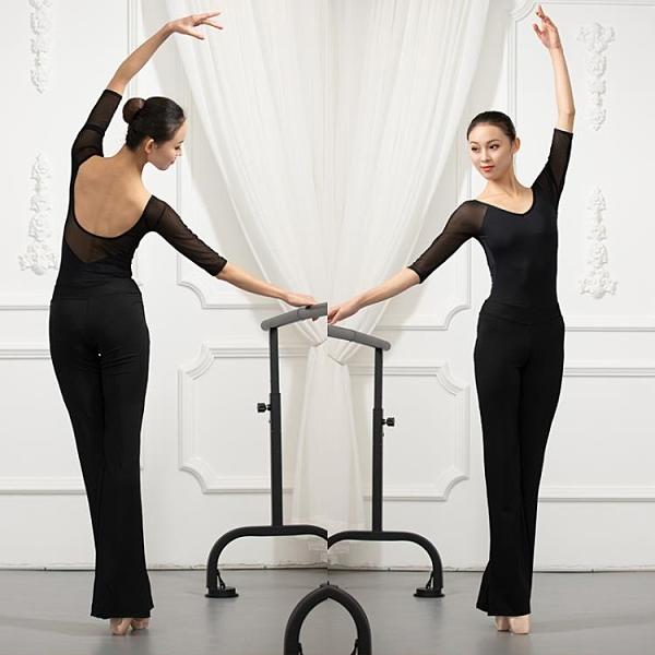 形體訓練服女套裝舞蹈連體練功服黑色禮儀培訓模特走秀服裝瑜伽褲