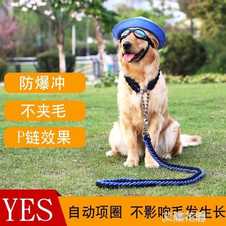中型大型犬狗狗遛狗繩子項圈狗錬子P錬牽引繩帶金毛拉布拉多用品
