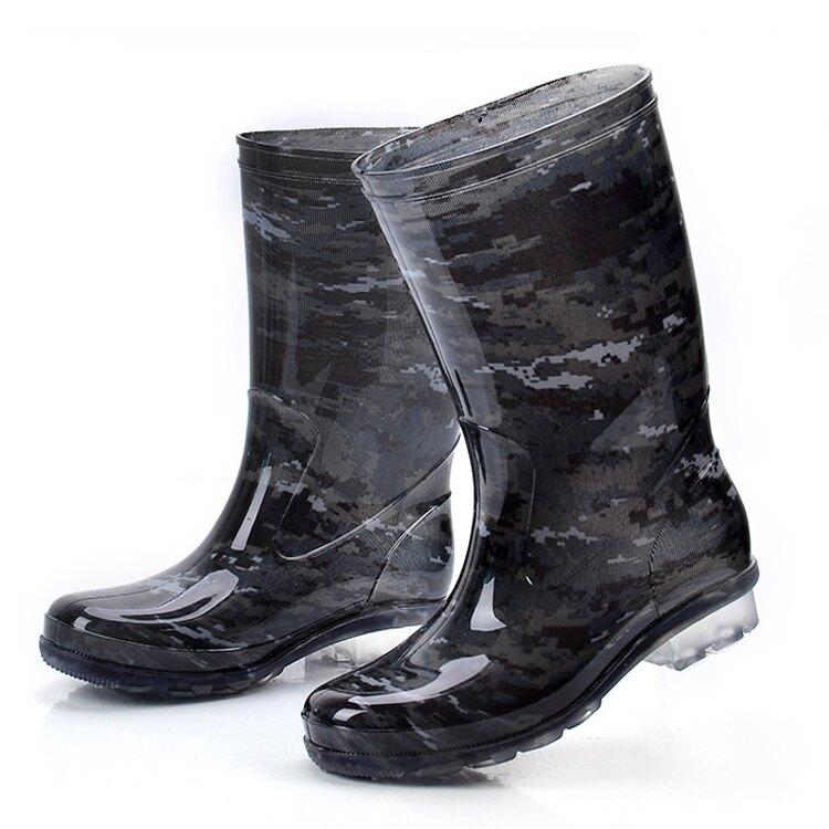 長筒水鞋男高筒雨靴中筒水鞋防滑防水雨鞋高膠鞋男款秋夏季水靴【免運】交換禮物
