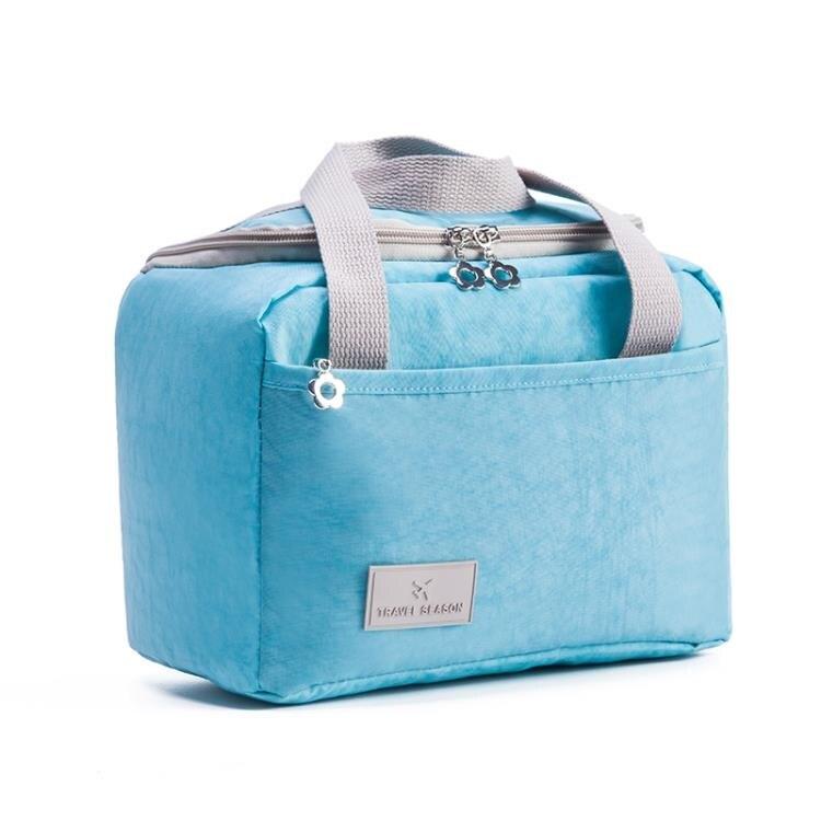 手提帆布飯盒袋保溫包鋁箔加厚防水便當袋小布包學生大號帶飯午餐 秋冬新品特惠