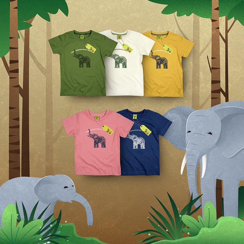 兒童T卹-大象YM   5種顏色