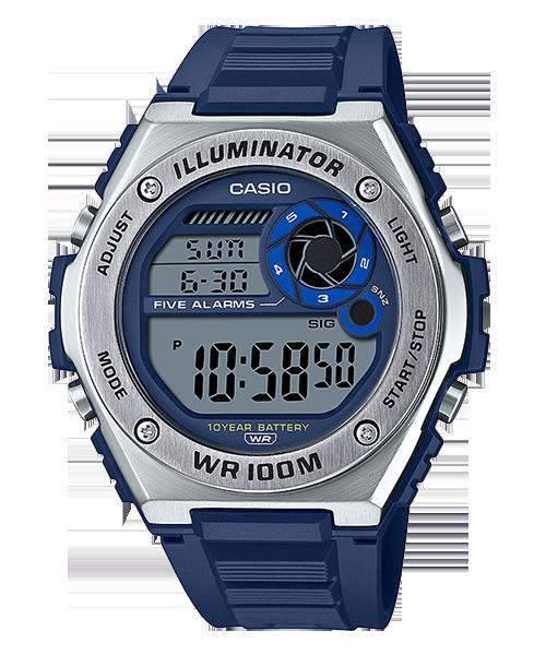 【東洋商行】CASIO 卡西歐 搭載10年電力電池 MWD-100H-2AVDF 原廠公司貨 防水 運動錶 電子錶 手錶