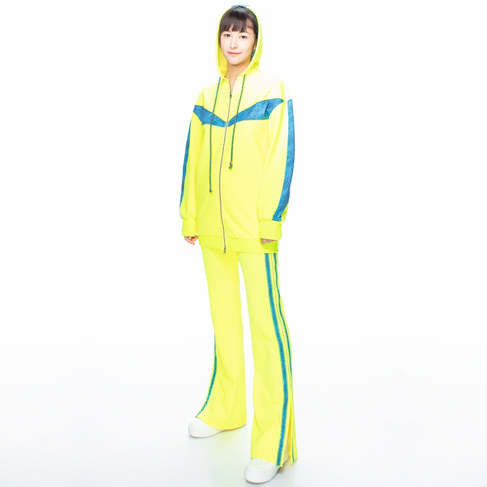【HOII后益】街頭個性長版外套-黃