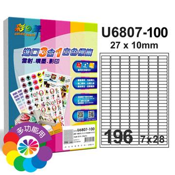 彩之舞進口3合1專業標籤U6807*2盒