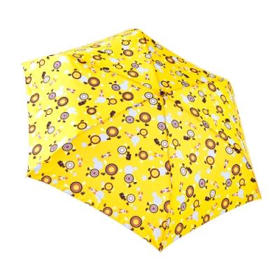 RAINSTORY 眼球戰士(黃)抗UV手開輕細口紅傘