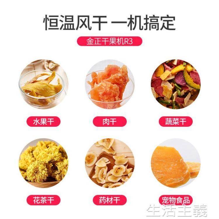 食物乾燥機 金正小型干果機食品家用烘干水果蔬菜寵物肉類食物脫水風干機果干
