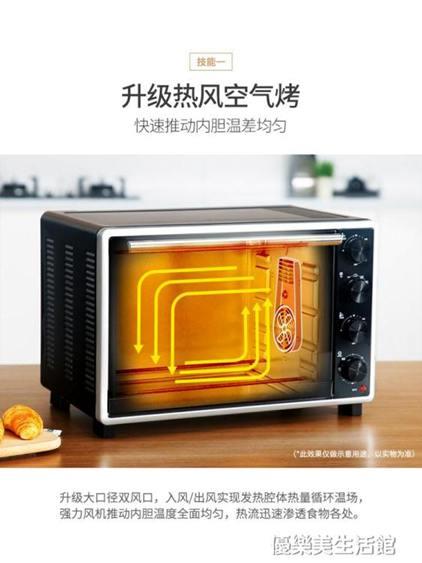A30電烤箱家用烘焙多功能全自動蛋糕33升小型迷你