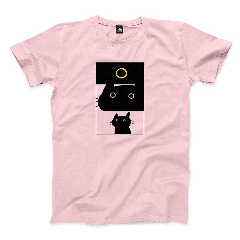 黑貓日全蝕 - 粉紅 - 中性版T恤