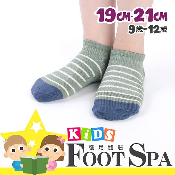瑪榭 Foostpa輕護腳踝足弓透氣運動童襪-線條(19~21cm) MK-31025