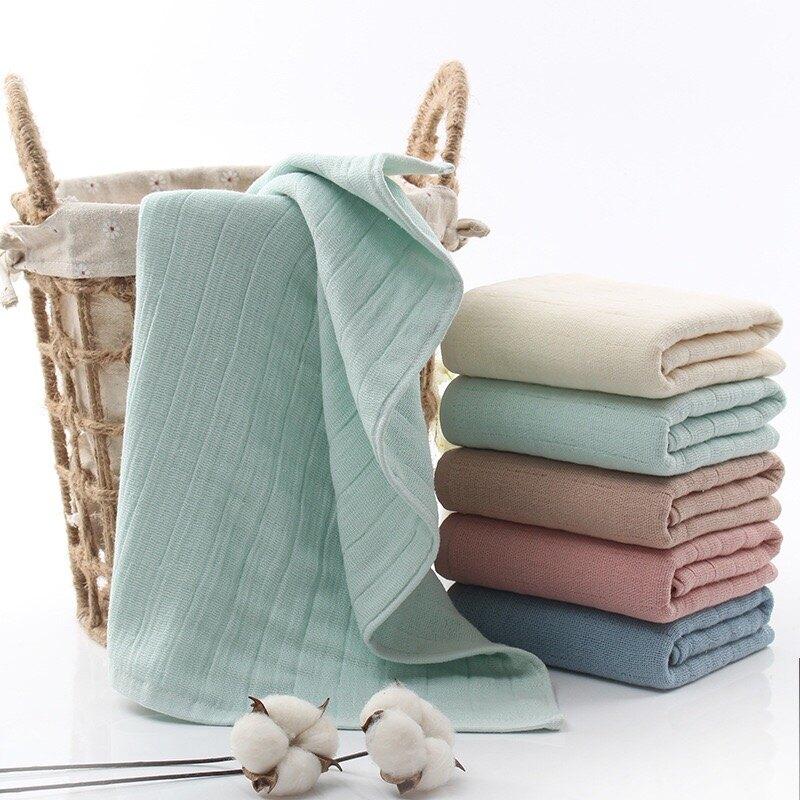 六層紗布洗臉毛巾日式素色成人兒童全純棉99購物節